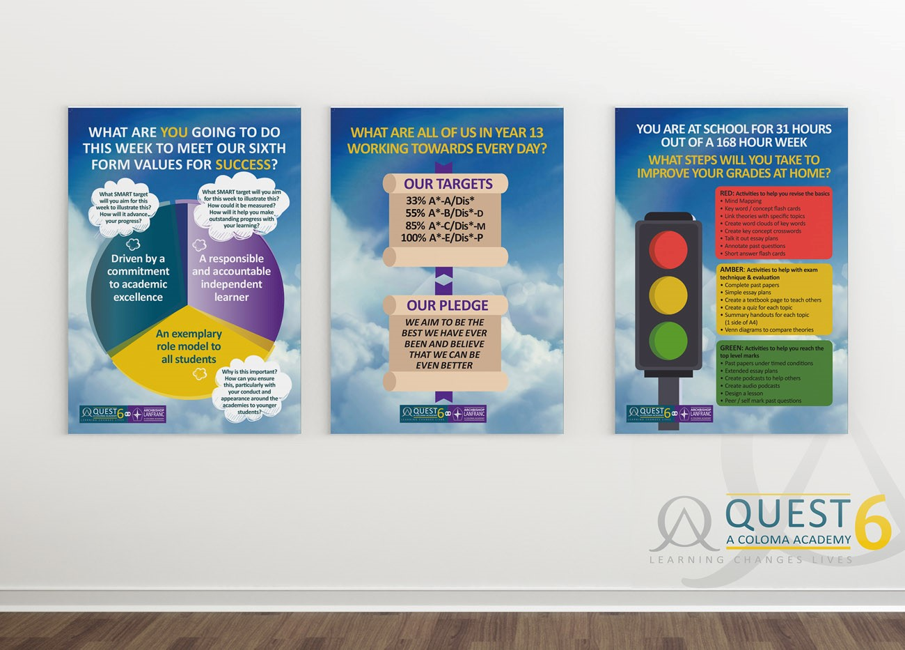 Quest Academy posters