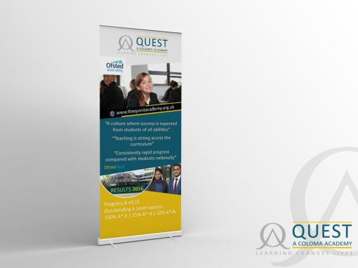 SECONDARY SCHOOL ROLLER BANNER
